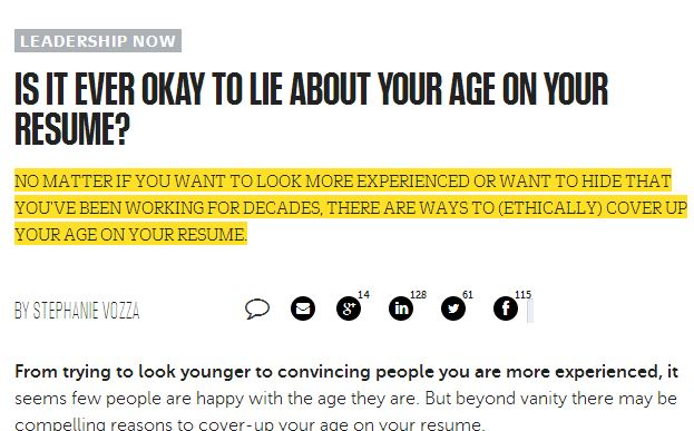 Wrong, Wrong, Wrong - Lying is Never Okay - Modern Job Search